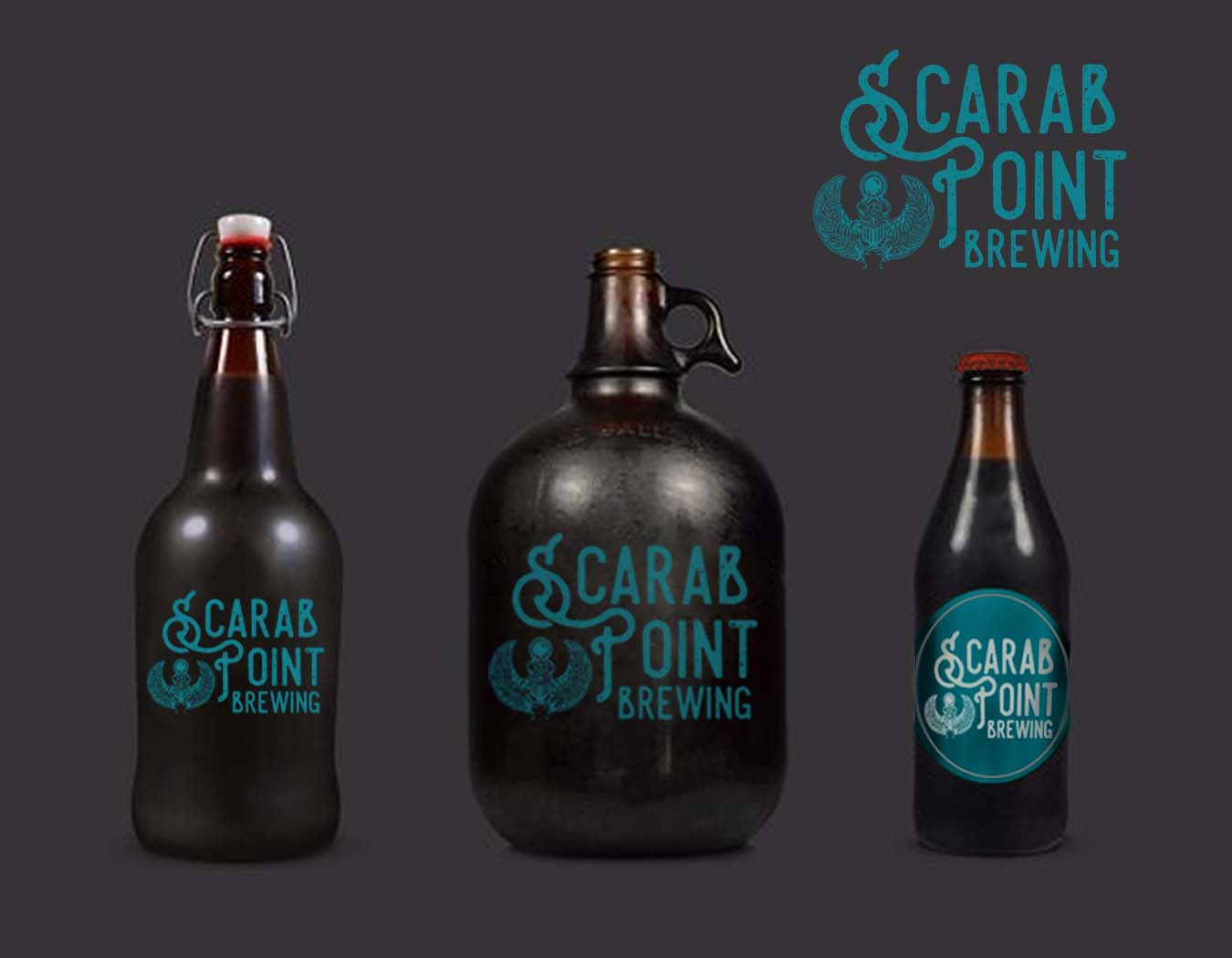 Scarab Point Brewing Packaging Design