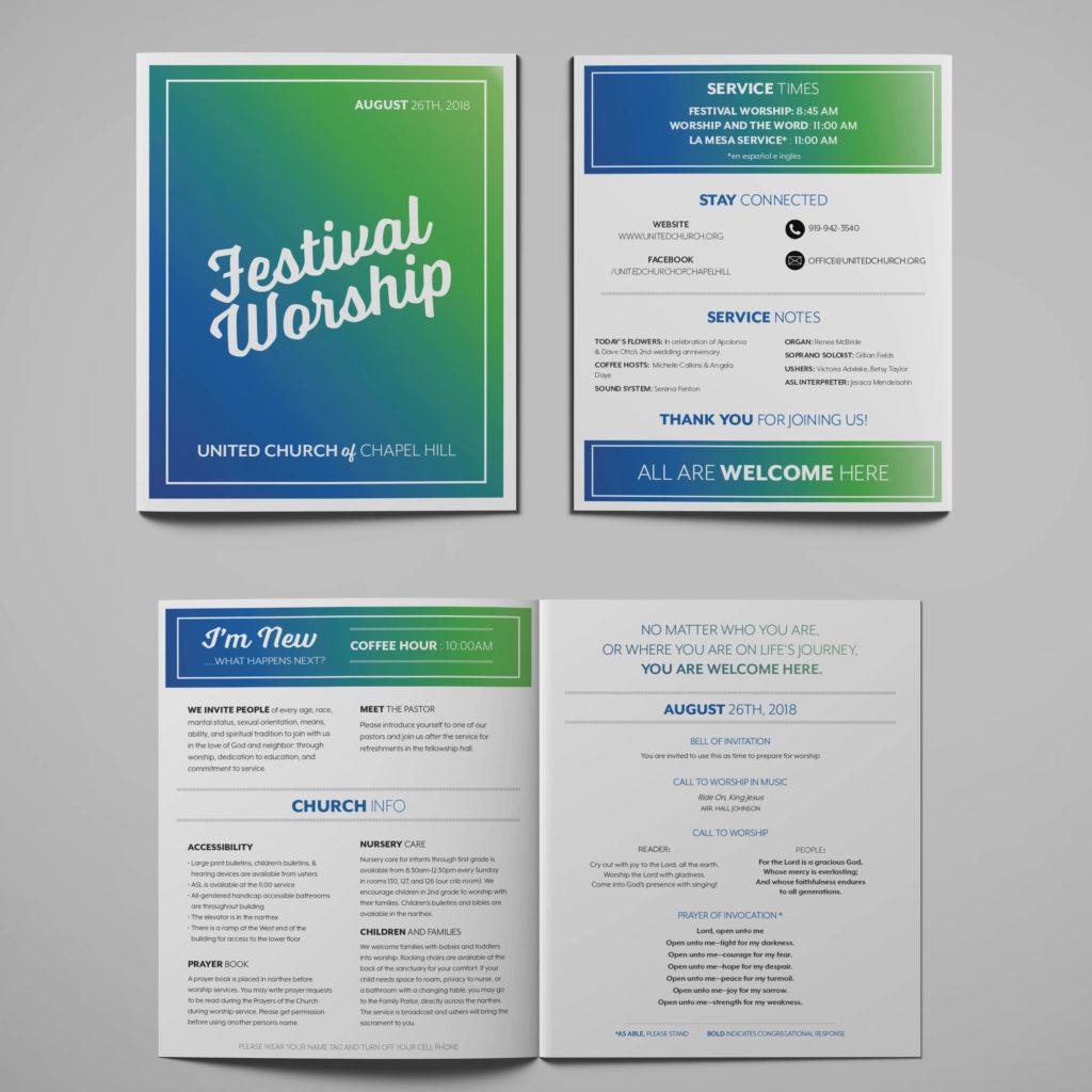 United Church Festival Bulletin Mockup