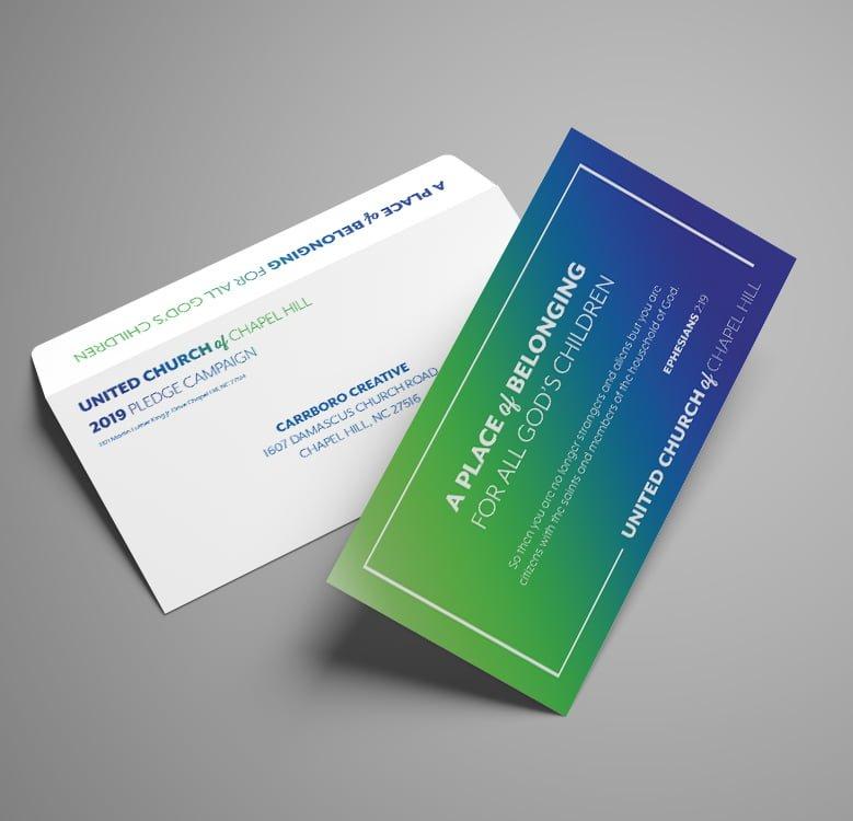 United Church of Chapel Card Envelope Design