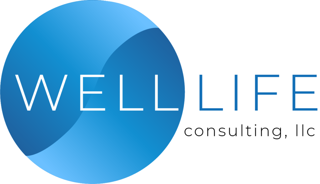 WellLife Logo Design For Dark Background