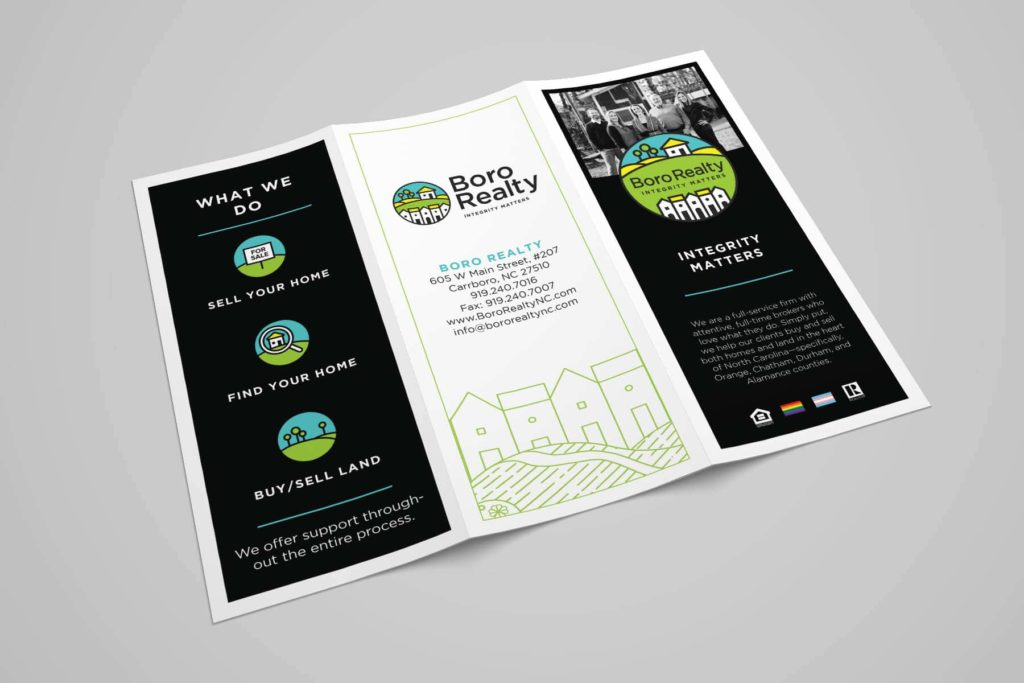 Chapel Hill Graphic Design Brochure for Boro Realty in Carrboro