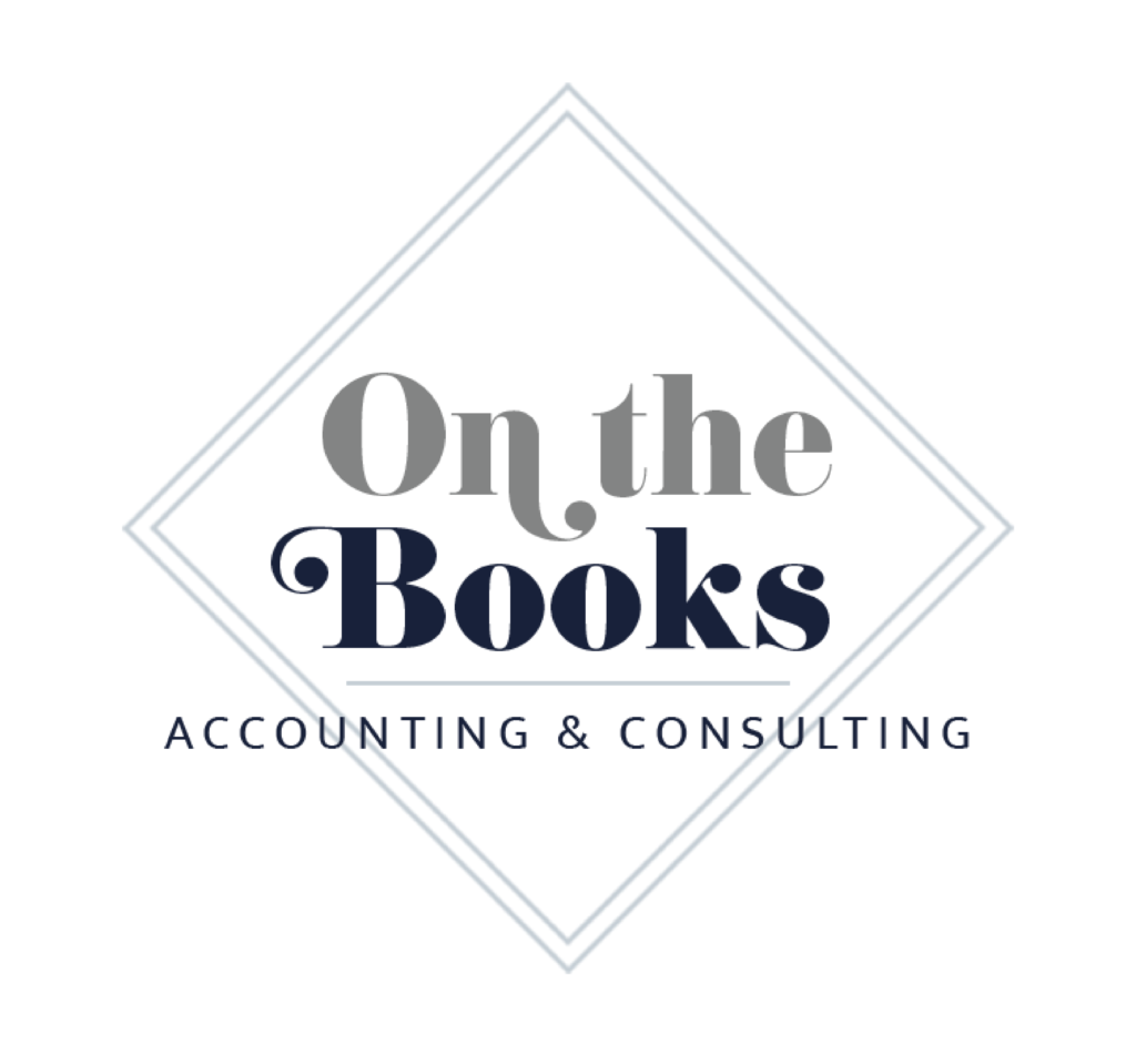branding ONtheBooks main logo with white background
