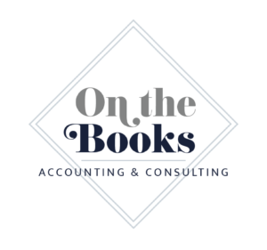 branding ONtheBooks main logo with white background