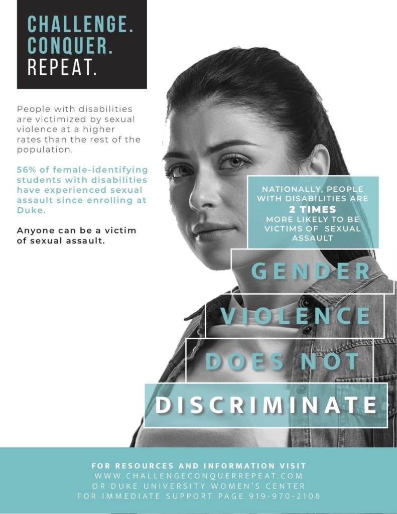 Duke Women's Center Gender Violence Poster Campaign Design
