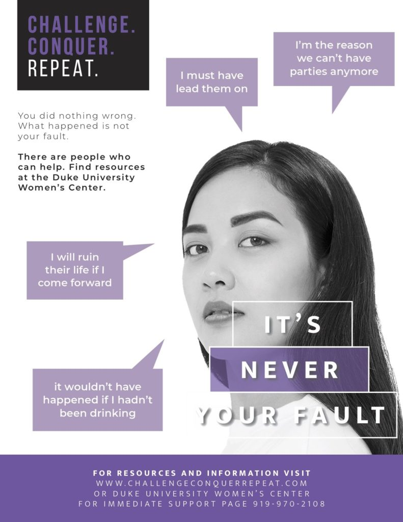 Duke Women's Center Purple Poster Campaign Design