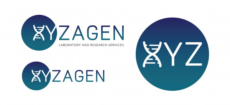 Xyzagen Logos on White Background