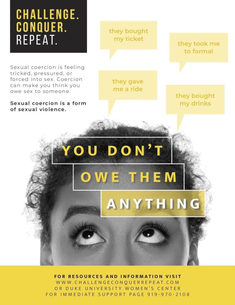Duke Women's Center Yellow Poster Campaign Design