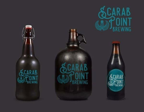 Scarab Point Brewing Custom Illustration Design
