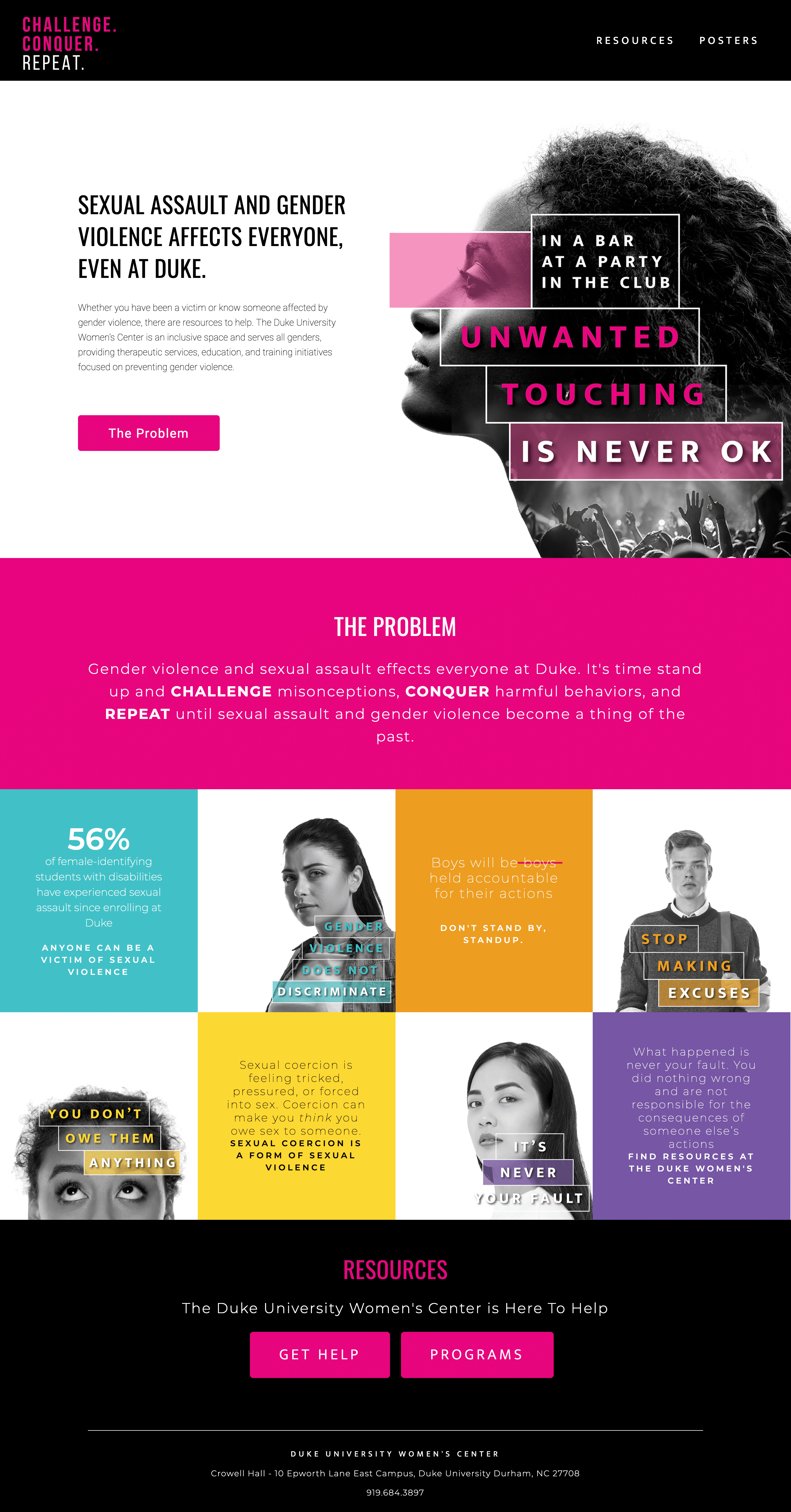 Duke Challenge Conquer Repeat website screenshot