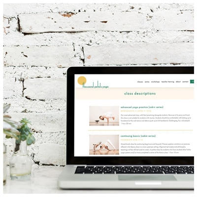 Thousand Petals Yoga Desktop Web Design