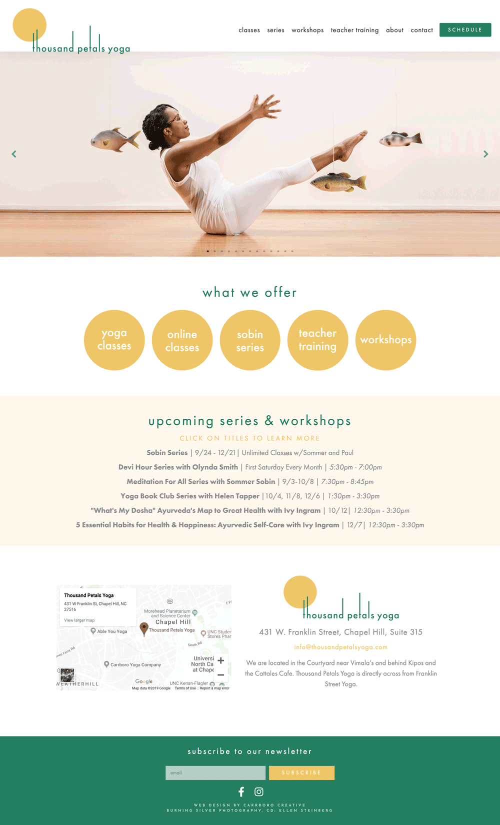 Thousand Petals Yoga Home Page