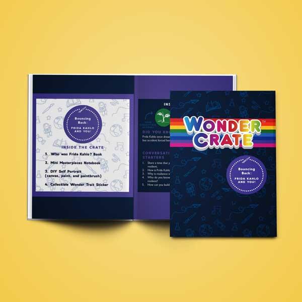 wondercrate booklet design