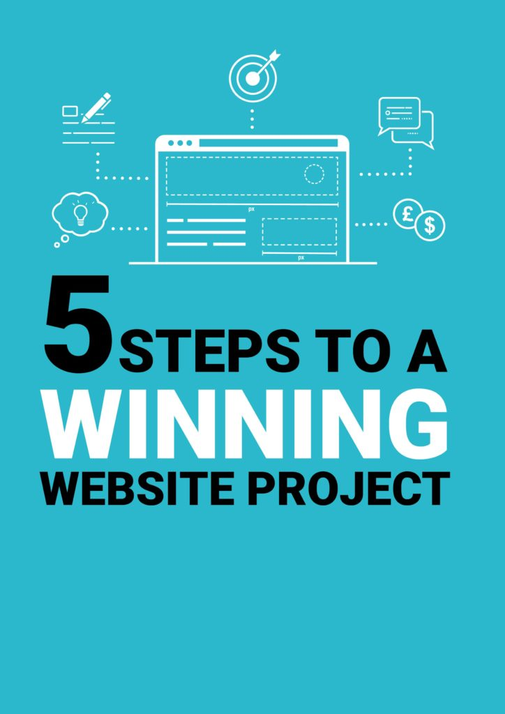 Lead Magnet 5 steps to a winning website project homepage design