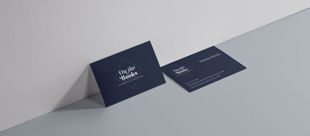 On The Books Business Cards graphic design
