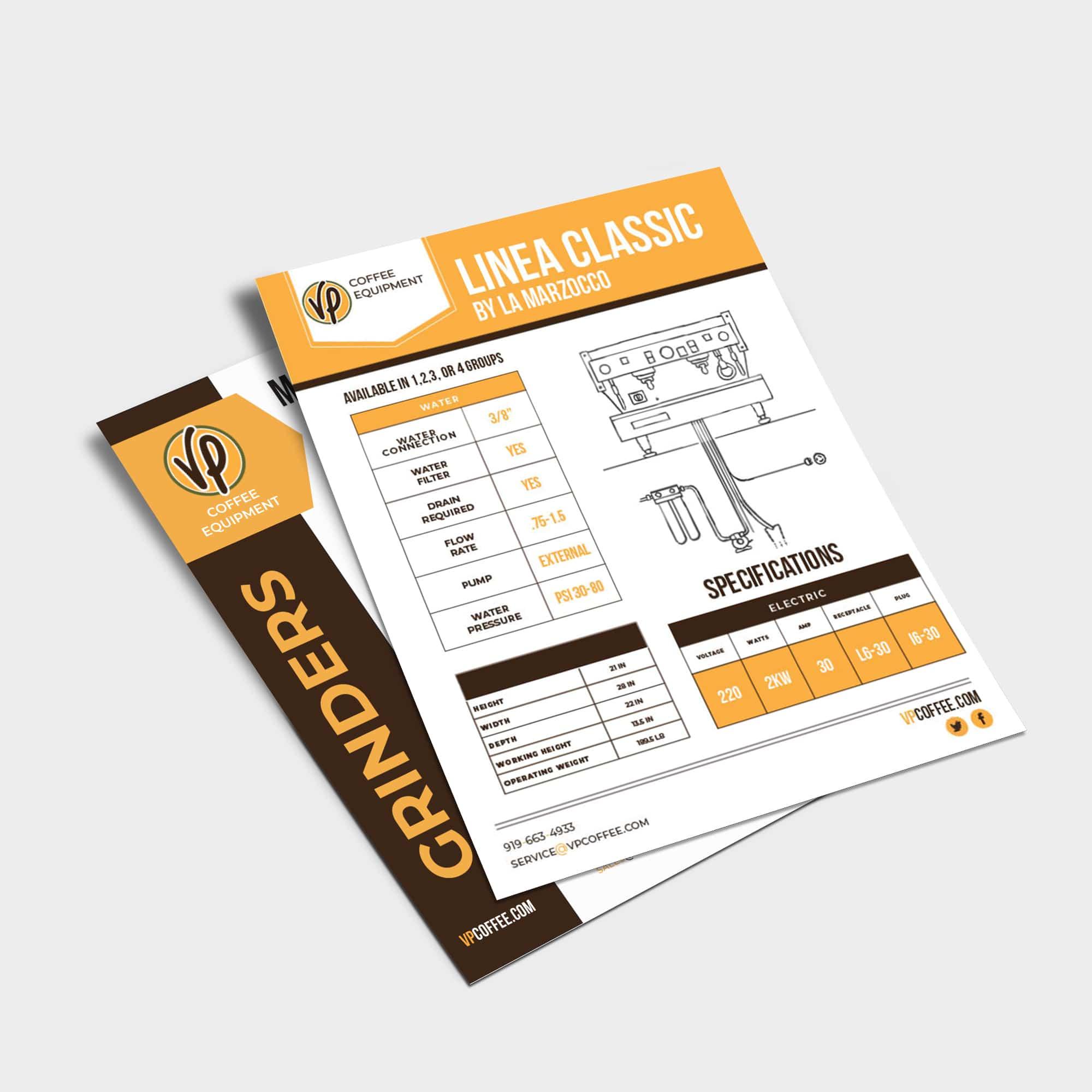 Spec sheet for illustration page