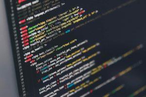 web design on screen