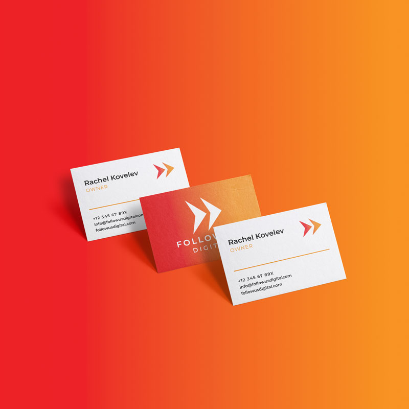 FollowUs Digital Business Card Mockup