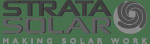 Strata Solar Logo Grayscale