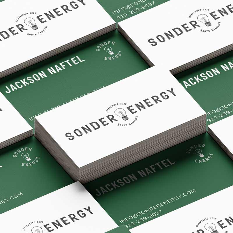 Sonder Energy Business Card Mockups