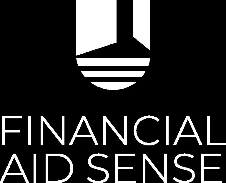 Financial Aid Sense Vertical Logo White