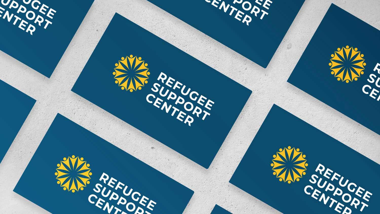 Refugee Support Center Business Card Mockup Wide